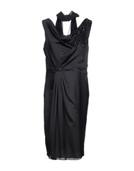 Carlo Pignatelli Knee Length Dresses Black