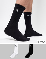 Santa Cruz 2 Pack Embroidered Socks Multi