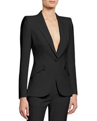 Alexander Mcqueen Classic Double Breasted Suiting Blazer Black