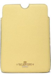 Valentino Leather Tablet Case Pastel Yellow