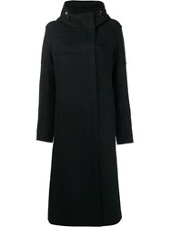Frauenschuh Hooded Long Line Coat Blue