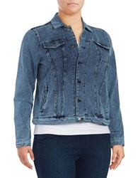 Marc New York Chambray Button Front Jacket Navy