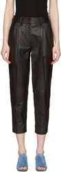 3.1 Phillip Lim Black Leather Carrot Trousers