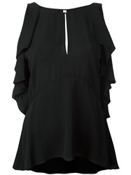 Theory Off Shoulder Blouse Black
