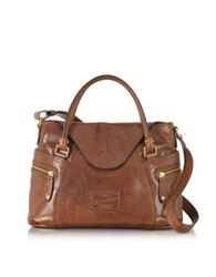 The Bridge Icons Gaucho Medium Marrone Leather Tote W Shoulder Strap Dark Brown