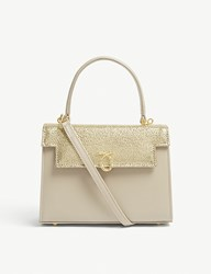 Launer Judi Stingray Embossed Leather Tote Gold