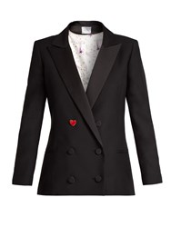 Racil Prince Double Breasted Wool Blend Jacket Black