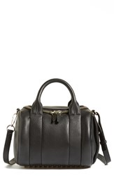Alexander Wang 'Rockie Pale Gold' Leather Crossbody Satchel Black