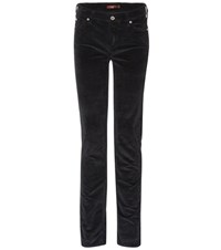 7 For All Mankind Mid Rise Roxanne Corduroy Trousers Black