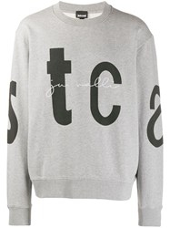 Just Cavalli Signature Sweatshirt Grey