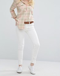 Polo Ralph Lauren By Mid Rise Skinny Jeans Cream White