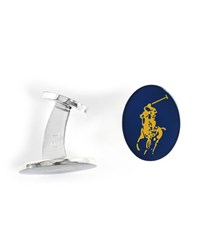 Polo Ralph Lauren Blue Horserider Numbers Cufflinks