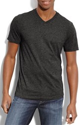 Men's The Rail Trim Fit V Neck T Shirt Dark Charcoal Heather Grey