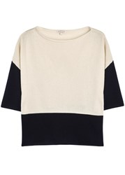 Demy Lee Olympia Two Tone Cashmere Jumper Cream