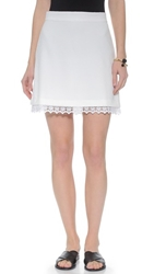 Wayf A Line Skirt White