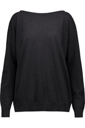 Brunello Cucinelli Bead Embellished Cashmere Sweater Charcoal