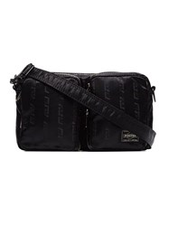 Neighborhood Crossbody Belt Bag X Porter Yoshida And Co Black