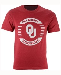 Colosseum Men's Oklahoma Sooners Circle Logo T Shirt Crimson