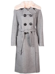 Coach Luxury Wool Trench Coat Grey