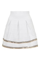 Bandage Mini Skater Skirt By Rare White