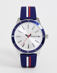 Lacoste Key West Silicone Watch In Navy