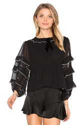 For Love And Lemons Souffle Top Black