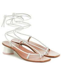 Loq Olea Leather Sandals White