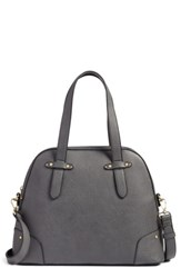 Sole Society Christie Faux Leather Satchel Grey