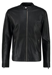 Solid Howlan Faux Leather Jacket Black