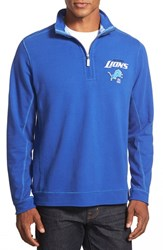 Men's Big And Tall Tommy Bahama 'Ben And Terry Detroit Lions' Half Zip Pullover Sweatshirt