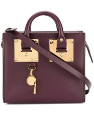 Sophie Hulme Cross Body Satchel Women Calf Leather One Size Pink Purple