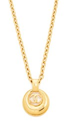 Wgaca What Goes Around Comes Around Chanel Cc Round Necklace Previously Owned Yellow Gold
