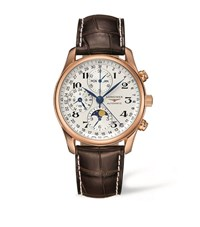 Longines Master Collection Chronograph Watch Unisex Silver