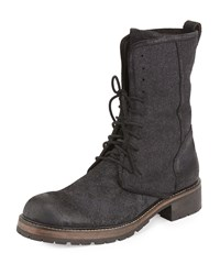 John Varvatos Gibbons Tall Lace Up Boot Black