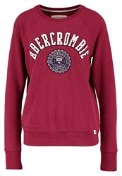 Abercrombie And Fitch Core Sweatshirt Burg Bordeaux