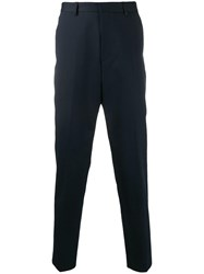 Hugo Boss Slim Fit Tailored Trousers Blue