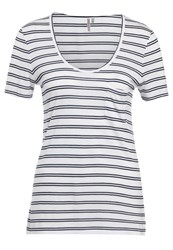 Banana Republic Signature Scoop Stripe Print Tshirt White