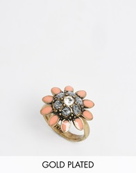 Pilgrim Pretty Floral Adjustable Ring Gold