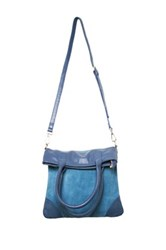Erica Anenberg Soho Leather Crossbody Blue