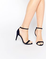 New Look Barely There Heeled Sandal Blue