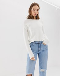 B.Young Round Neck Jumper Off White