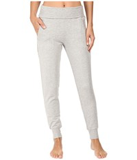Beyond Yoga Fleece Fold Over Sweatpants Heather Gray Women's Workout