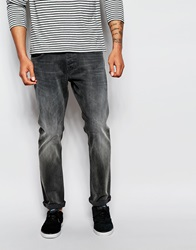 New Look Washed Slim Fit Jeans Grey