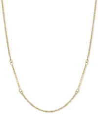 Macy's Braided Station Chain Necklace In 14K Gold