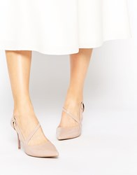 Ravel Strap Point Heeled Shoes Nude