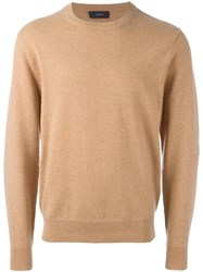 Joseph 'Ls' Round Neck Jumper Brown