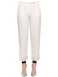 Edun Double Layer Cropped Pique Pants Beige