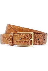 Andersons Anderson's Croc Effect Leather Belt Tan