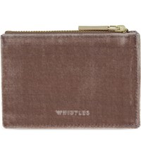 Whistles Velvet Coin Purse Pale Pink