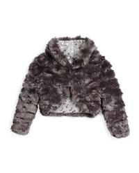 Appaman Open Front Faux Fur Bolero Gray Size 4T 14